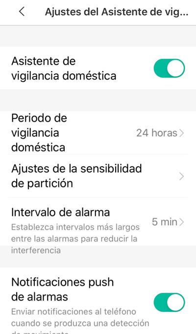 Asistente de vigilancia doméstica
